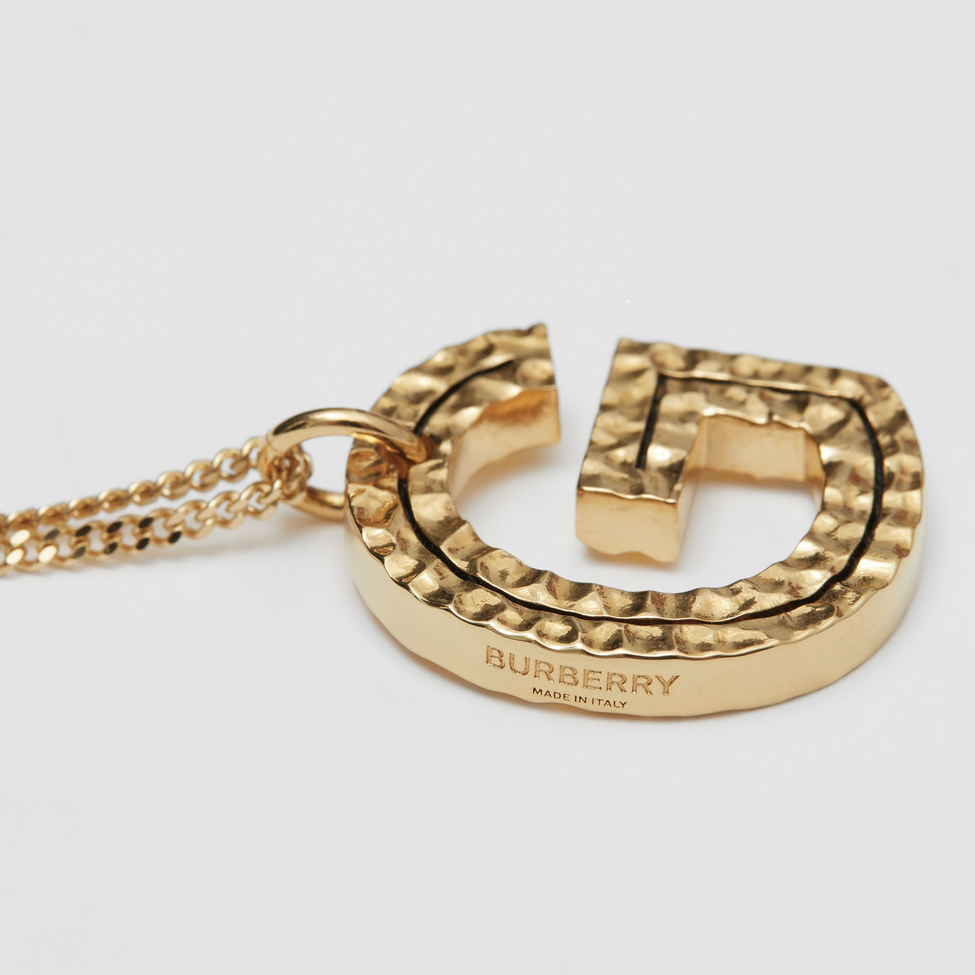 'G' Alphabet Charm Gold-plated Necklace in Light - Women | Burberry United Kingdom - gallery image 1