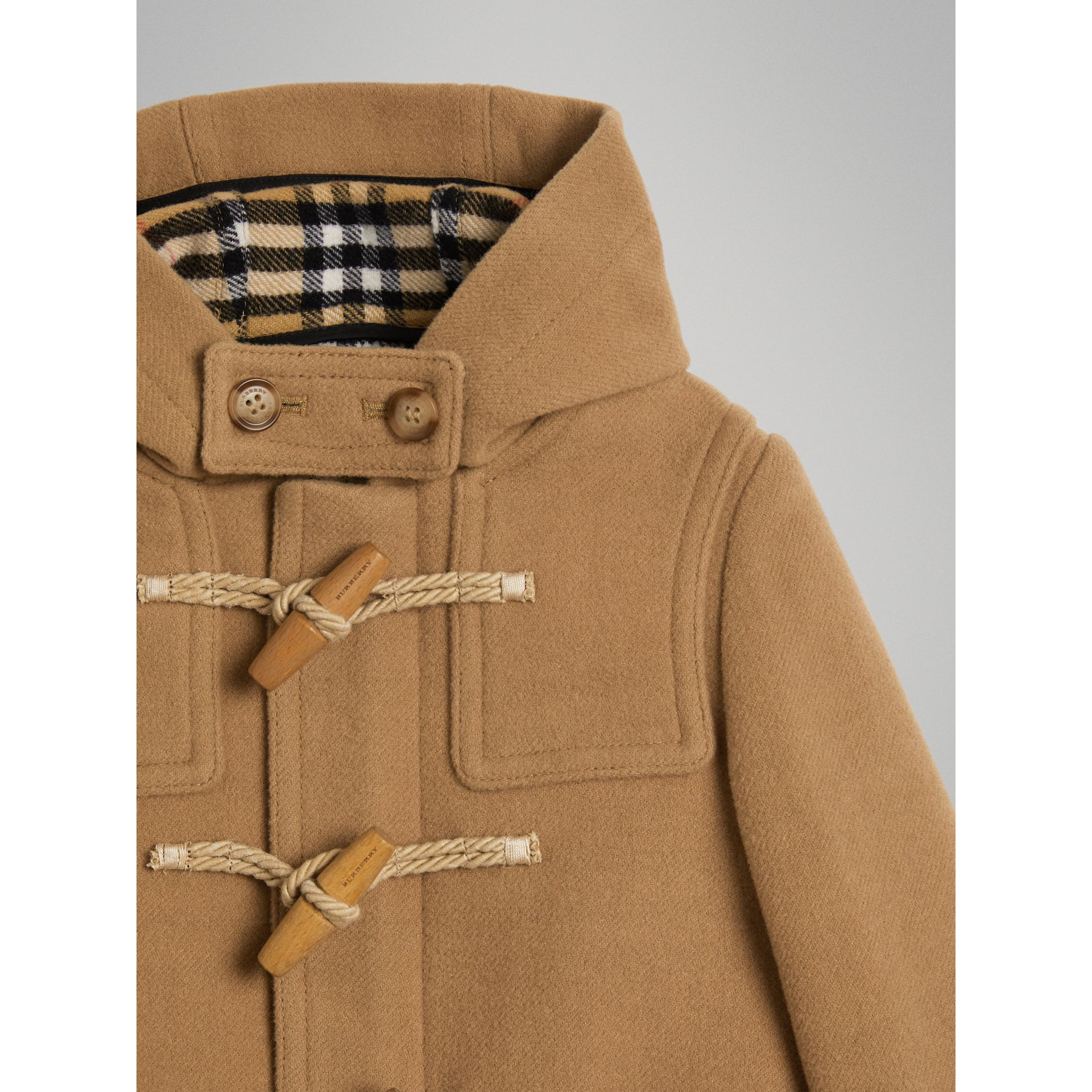 Double-faced Wool Duffle Coat in Antique Yellow - Boy | Burberry Singapore - gallery image 4