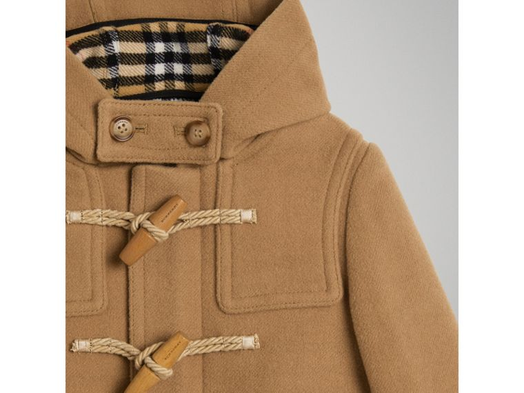 Double-faced Wool Duffle Coat in Antique Yellow - Boy | Burberry - cell image 4