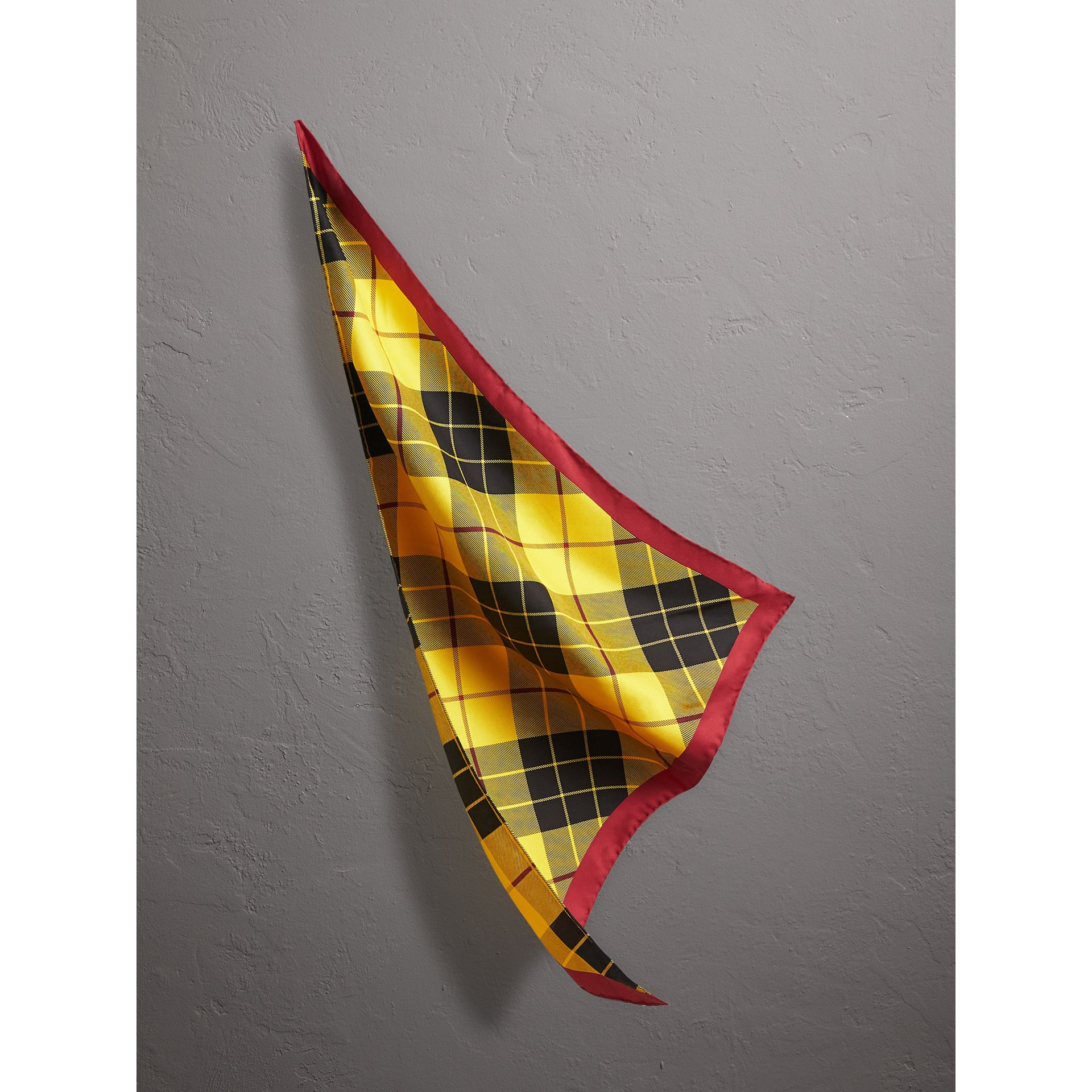 The Burberry Bandana in Check Silk in Vibrant Yellow | Burberry United Kingdom - gallery image 0