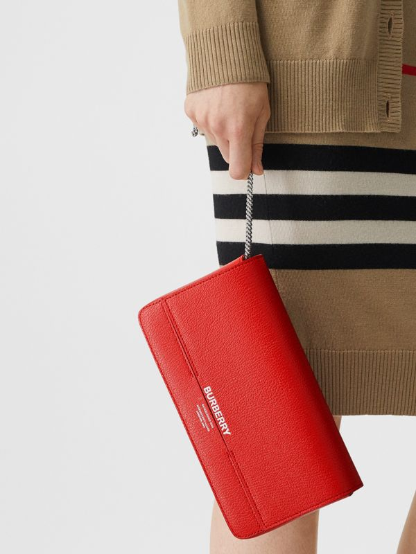 Leather Grace Clutch in Bright Military Red - Women | Burberry - cell image 2