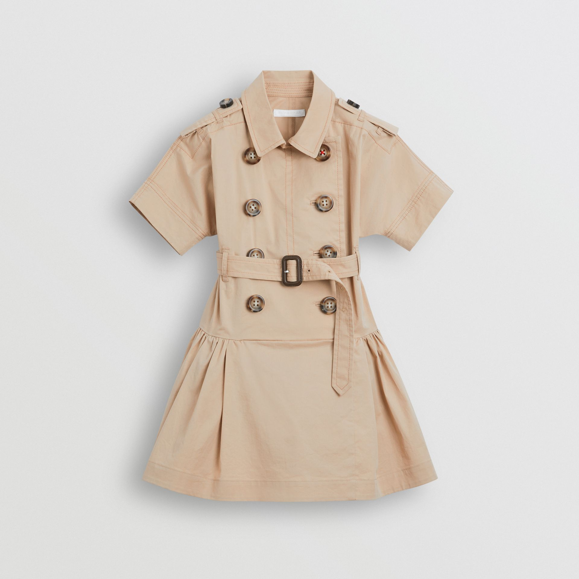 Stretch Cotton Trench Dress in Honey | Burberry Hong Kong - gallery image 0