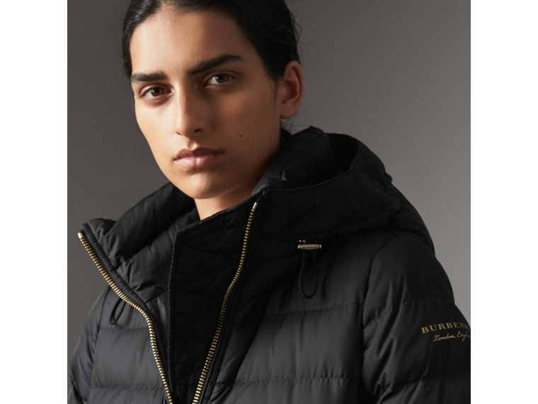 Hooded Down-filled Puffer Jacket in Black - Women | Burberry Singapore - cell image 1