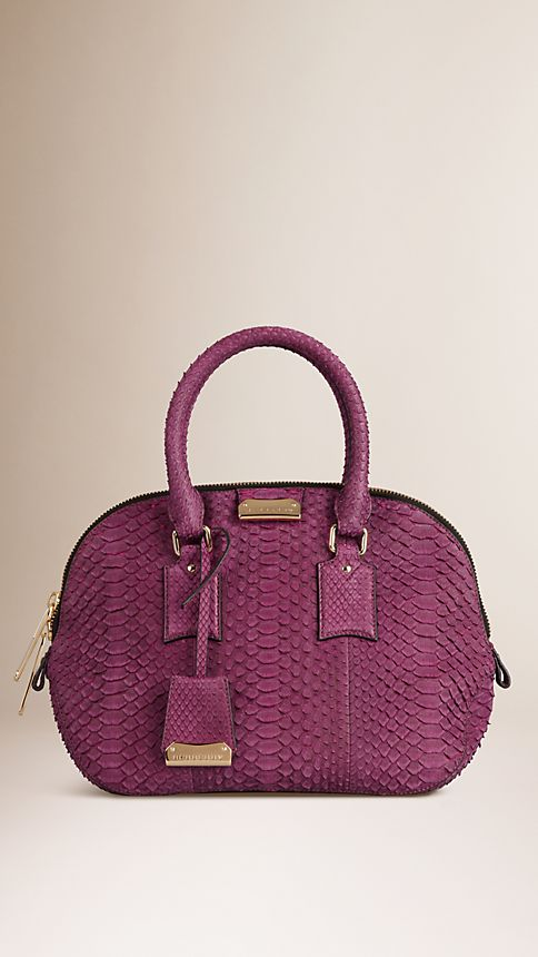 Damson magenta The Small Orchard in Nubuck Python - Image 1