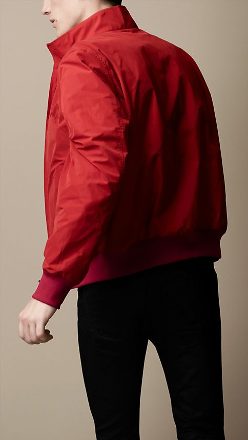 Military red Zip Front Packaway Blouson - Image 2