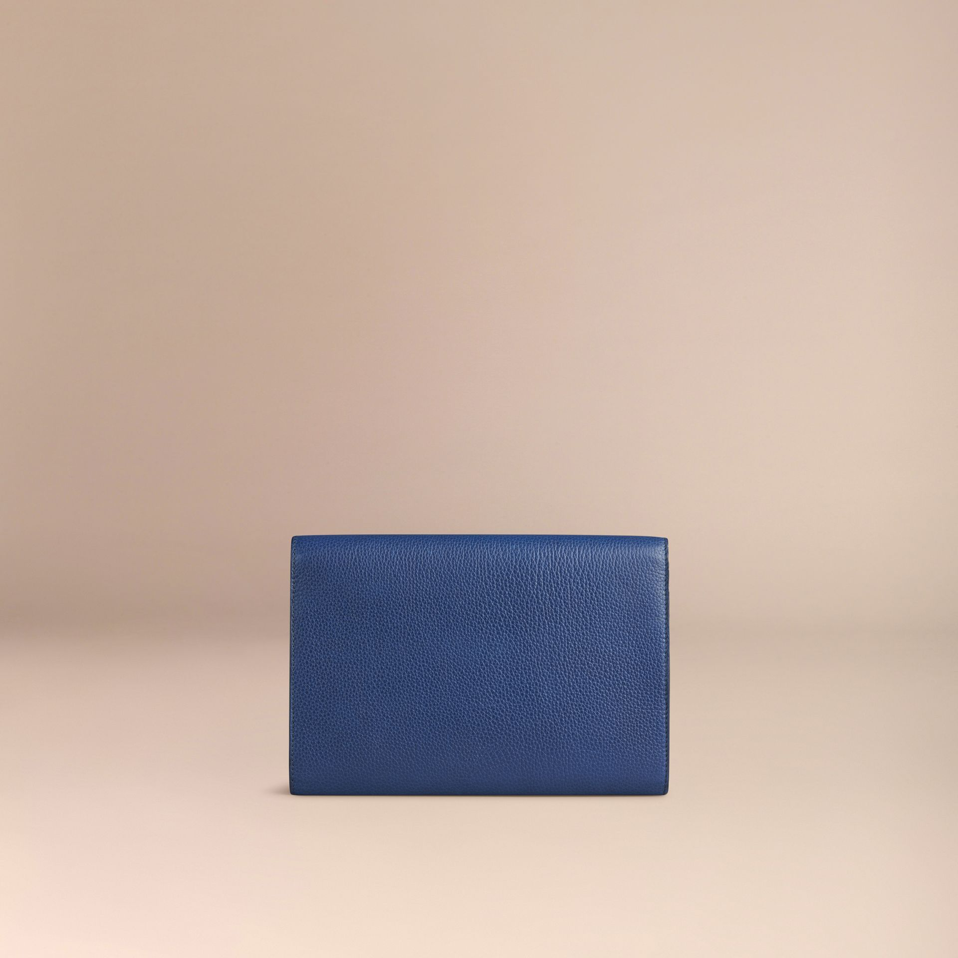 Grainy Leather Travel Wallet in Bright Navy - Men | Burberry Canada - gallery image 4