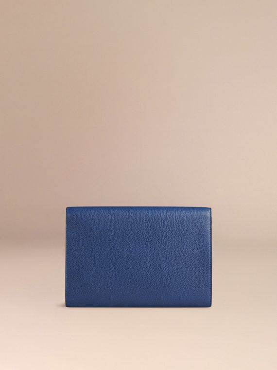 Grainy Leather Travel Wallet in Bright Navy - Men | Burberry Canada - cell image 3