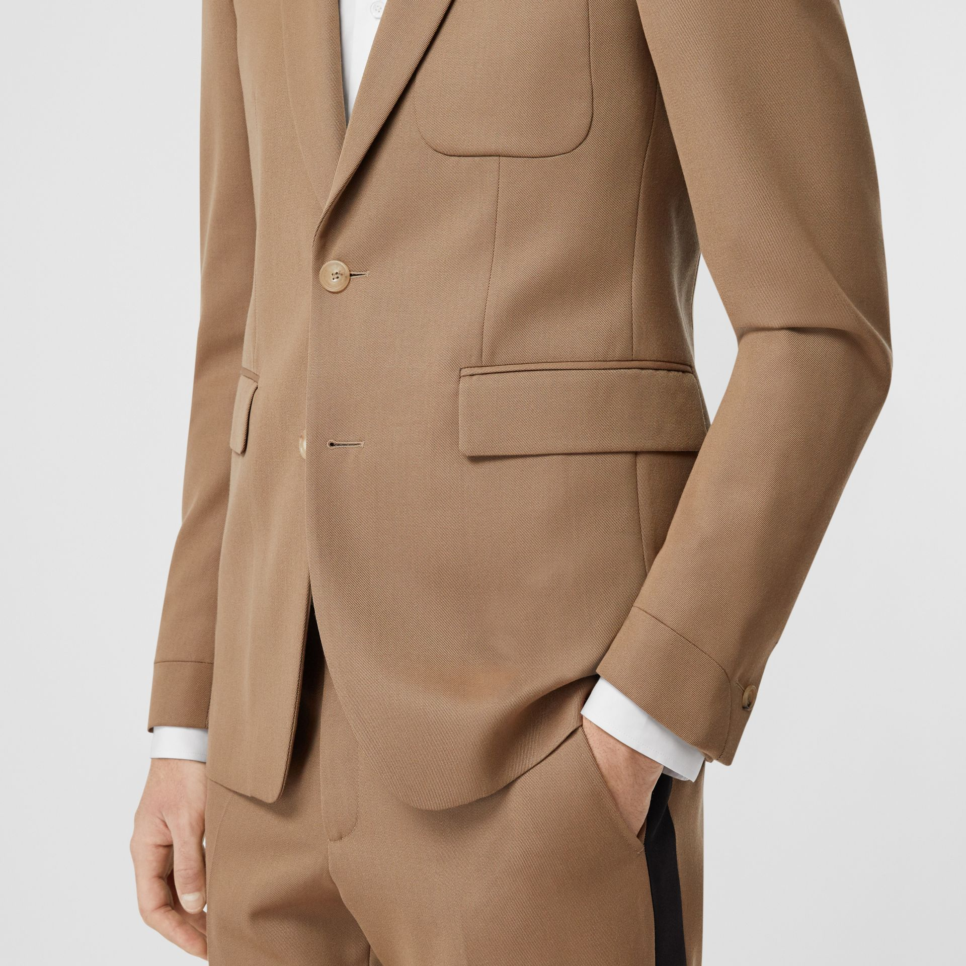 Classic Fit Two-tone Wool Tailored Jacket in Camel - Men | Burberry United Kingdom - gallery image 4