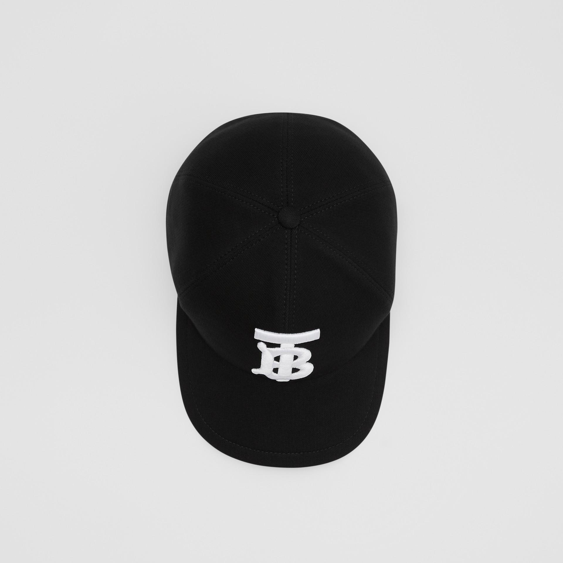 Monogram Motif Baseball Cap in Black | Burberry - gallery image 0