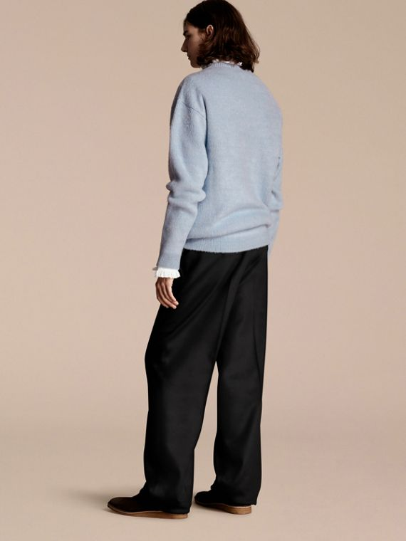 Hydrangea blue Brushed Wool Cashmere Sweater - cell image 2