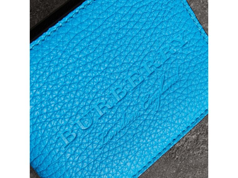 Embossed Leather Bifold Wallet in Neon Blue - Men | Burberry United States - cell image 1