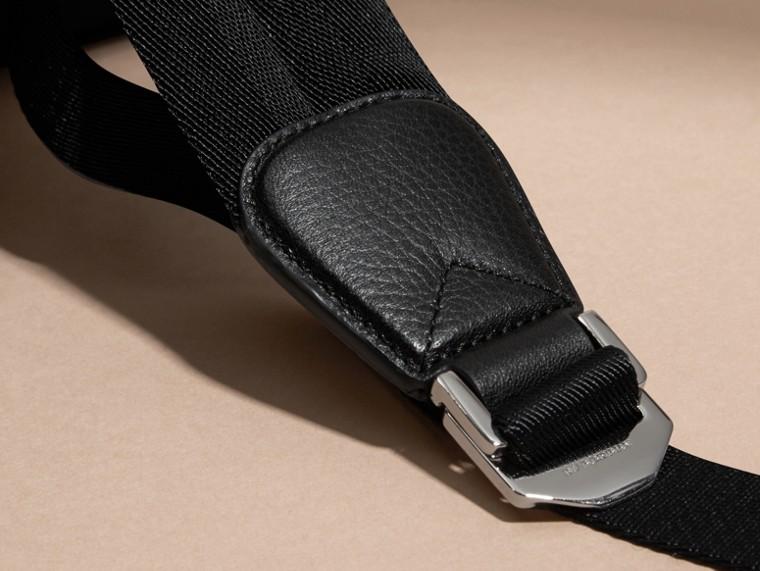 Noir Sac à dos en nylon avec éléments en cuir Noir - cell image 4