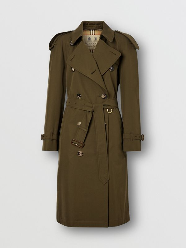 The Westminster Heritage Trench Coat in Dark Military Khaki - Women | Burberry Singapore - cell image 3