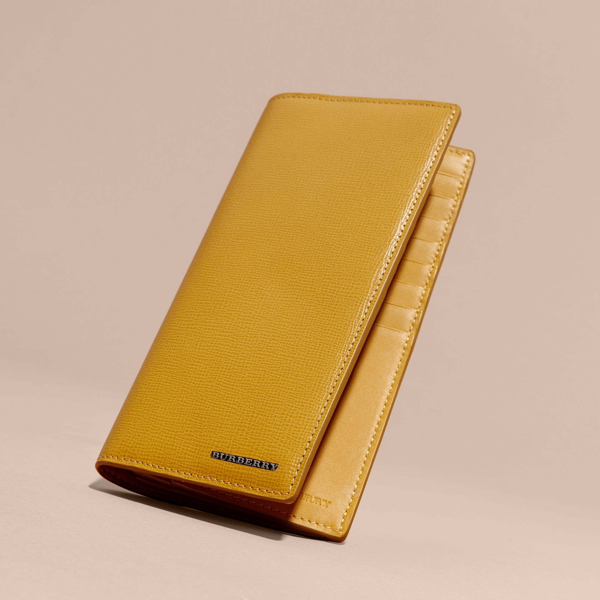 London Leather Continental Wallet in Larch Yellow - gallery image 3
