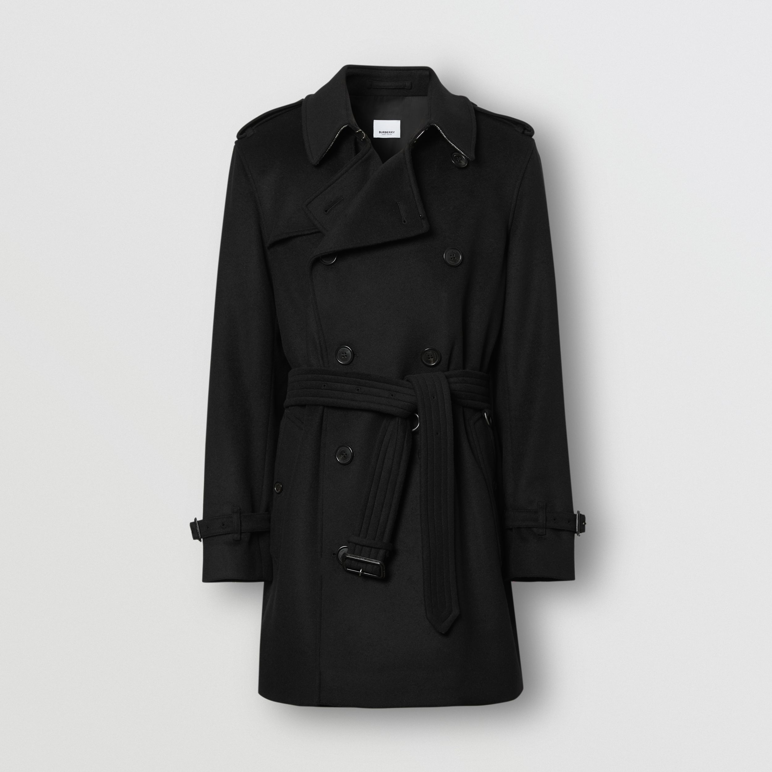 Wool Cashmere Trench Coat in Black - Men | Burberry Canada - 4