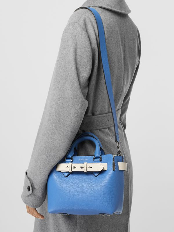 The Mini Leather Belt Bag in Hydrangea Blue - Women | Burberry Australia - cell image 3