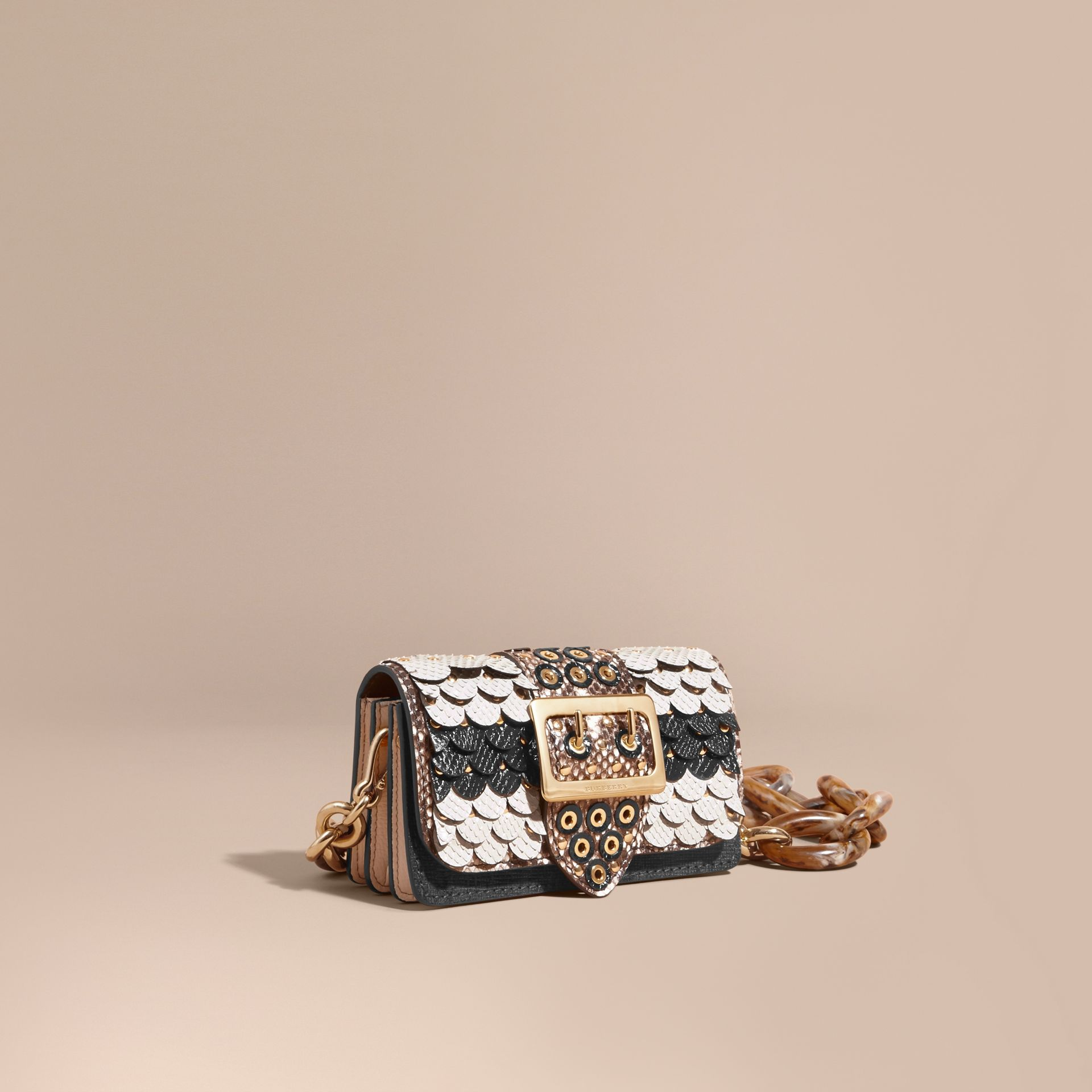 The Small Buckle Bag in Scalloped Snakeskin - gallery image 1