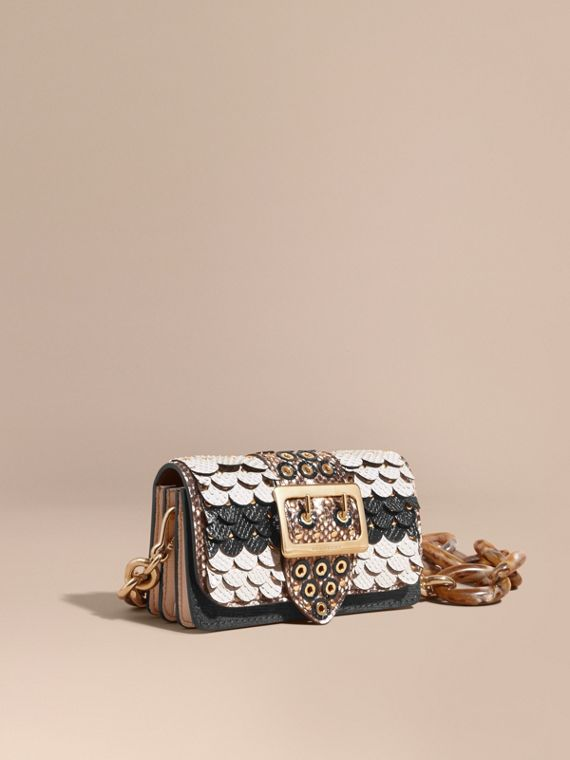 Petit sac The Buckle en peau de serpent festonnée - Femme | Burberry