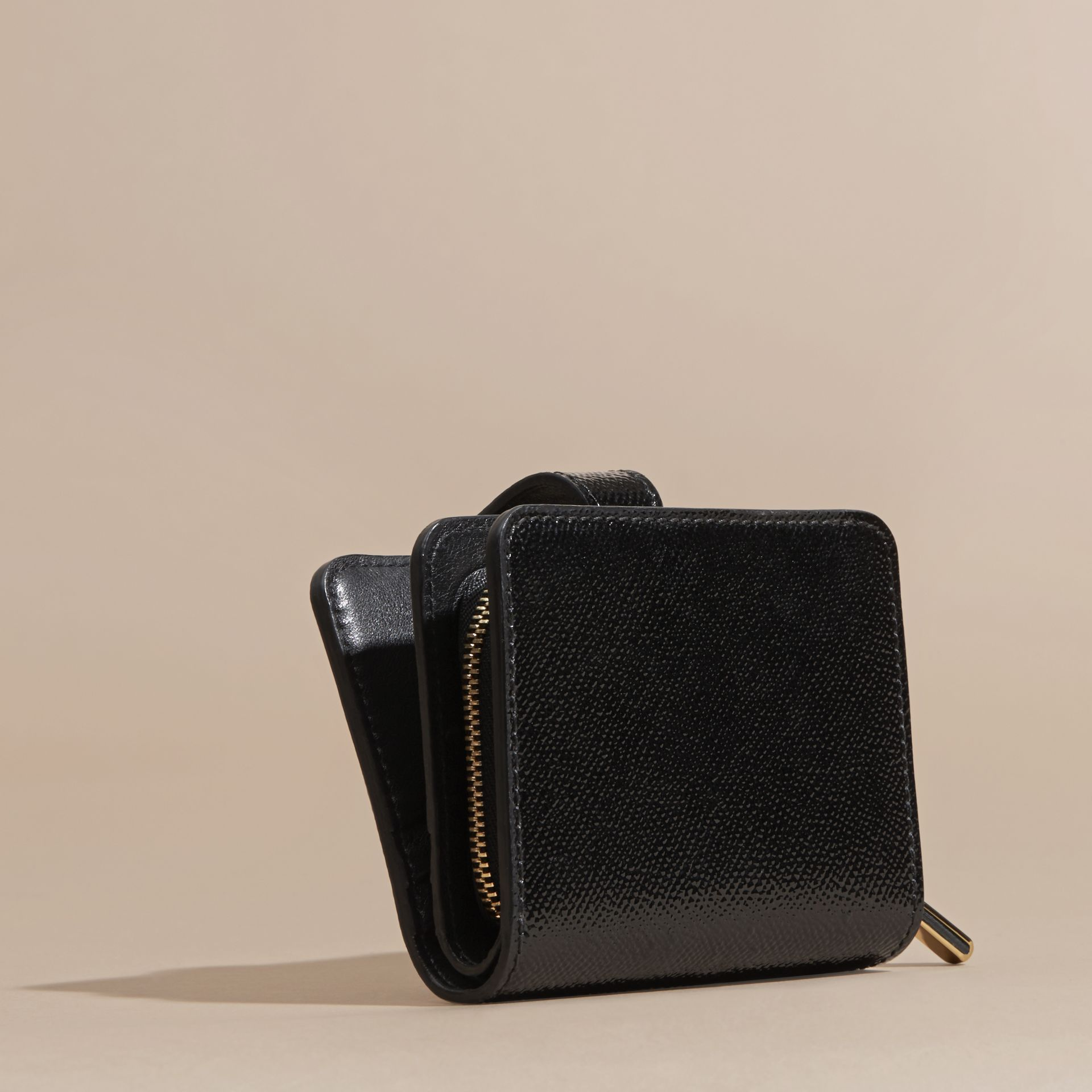 Black Patent London Leather Wallet Black - gallery image 4