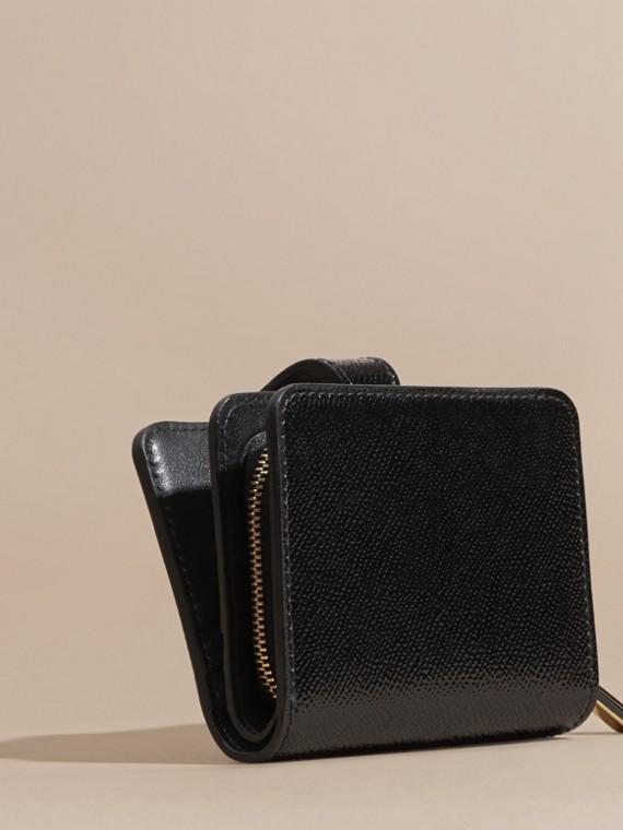 Nero Portafoglio in pelle London verniciata Nero - cell image 3