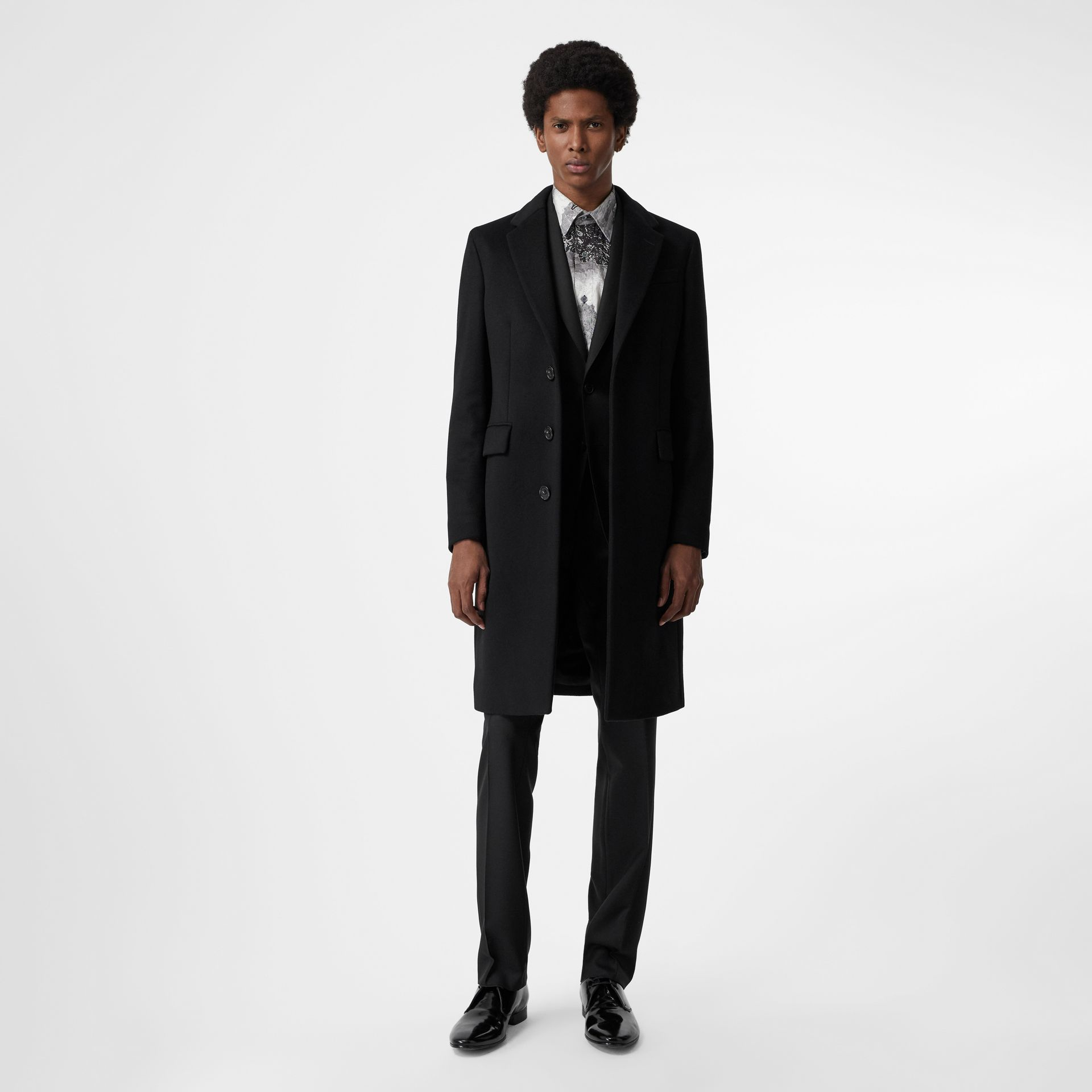 Classic Fit Wool Twill Suit in Black - Men | Burberry Canada - gallery image 0