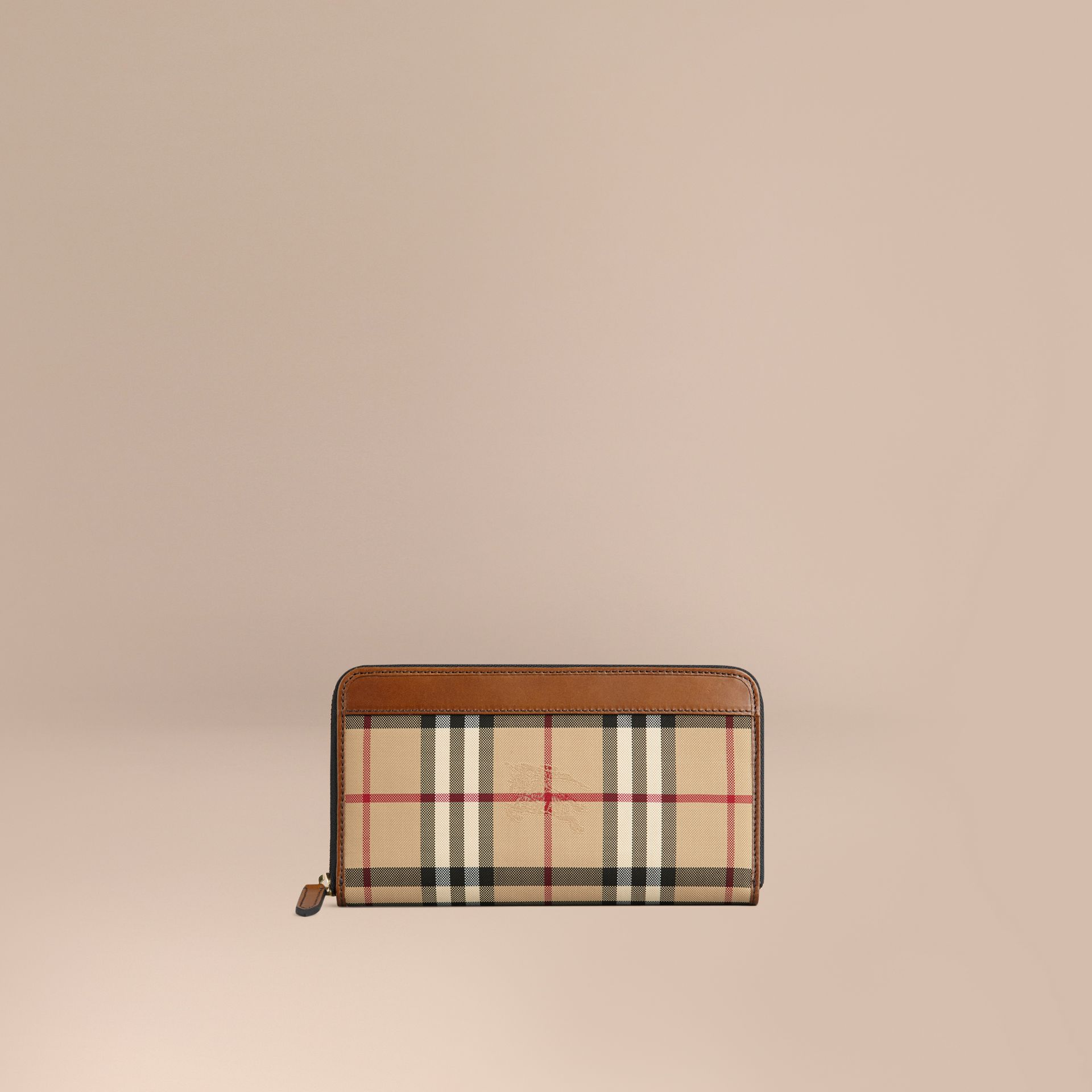 Horseferry Check Ziparound Wallet Tan - gallery image 1