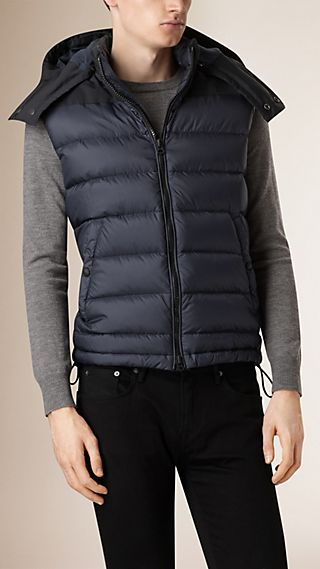 Down-filled Gilet with Detachable Hood