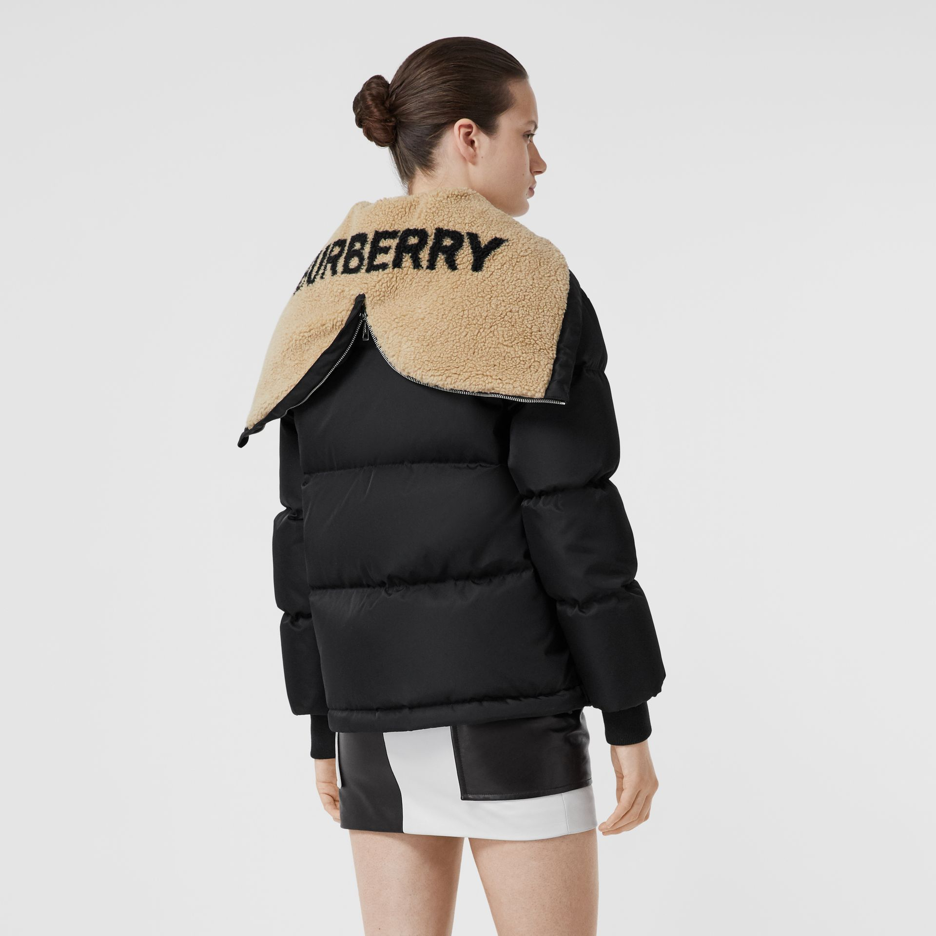 Logo Detail ECONYL® Puffer Jacket in Black - Women | Burberry - gallery image 2