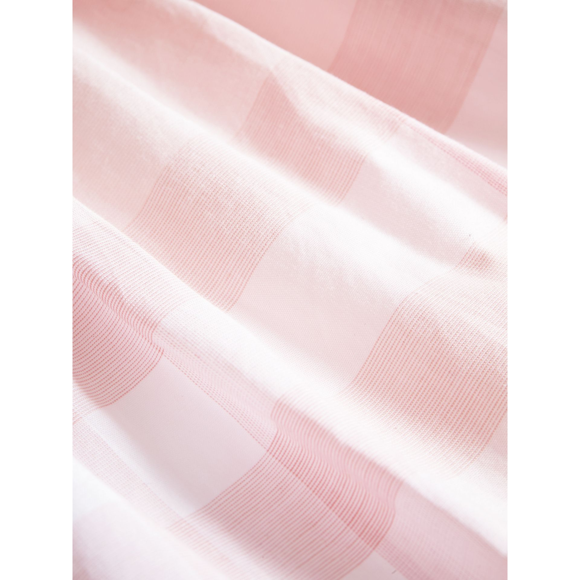 Check Detail Cotton Dress in Ice Pink | Burberry - gallery image 1