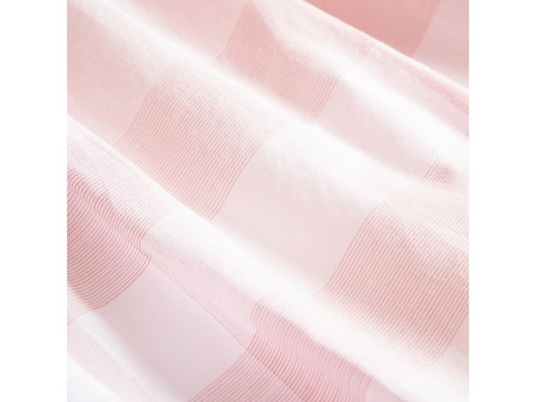 Check Detail Cotton Dress in Ice Pink | Burberry Canada - cell image 1