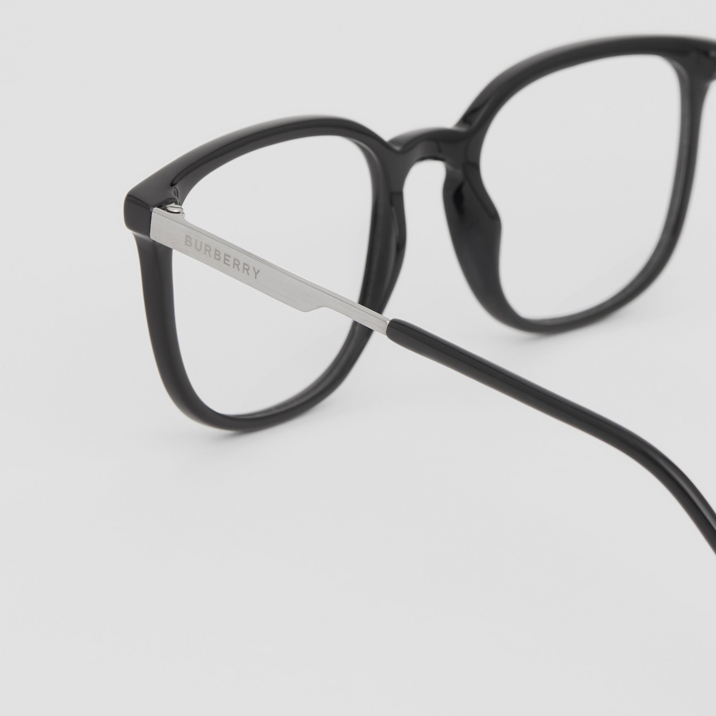 Square Optical Frames in Black | Burberry - 2