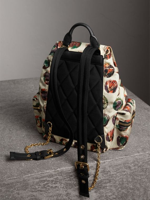 The Medium Rucksack in Technical Nylon with Pallas Heads Print in Natural White - Women | Burberry - cell image 3