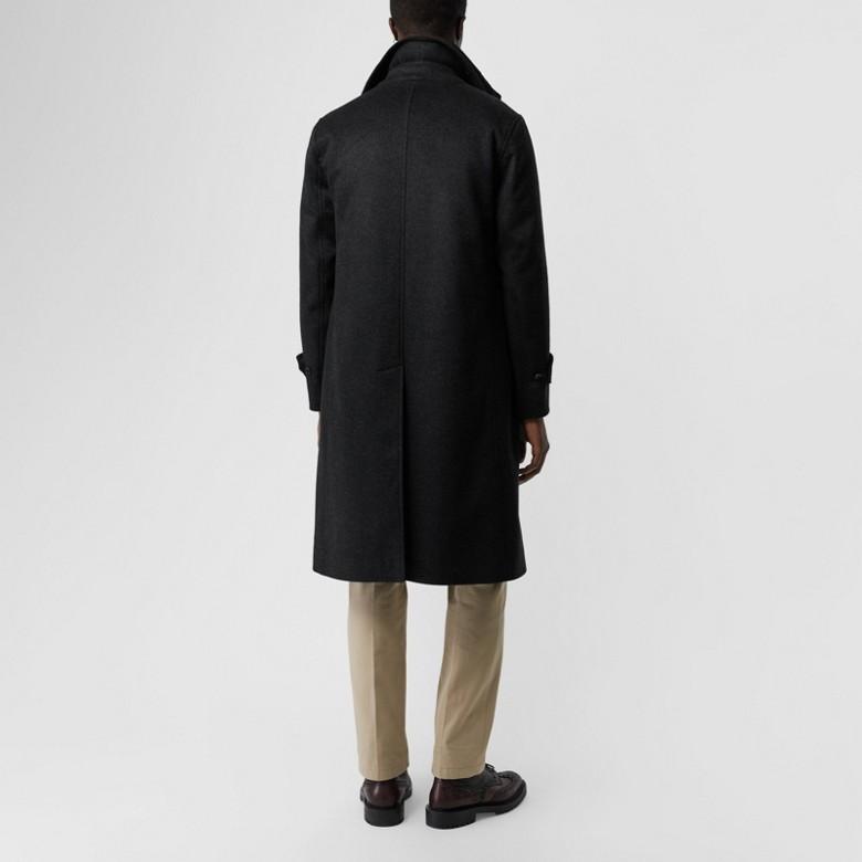 Burberry - Paletot en laine et cachemire avec veste sans manches amovible - 3