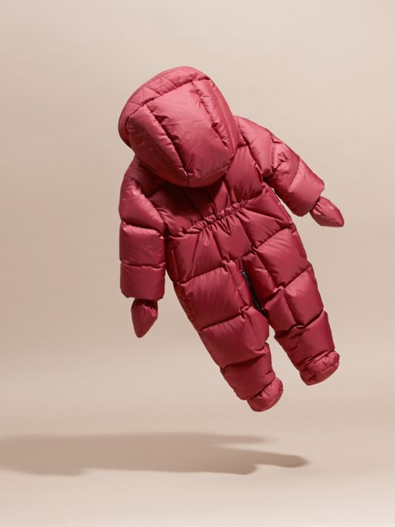 Down-filled Puffer Suit in Peony Rose - cell image 3