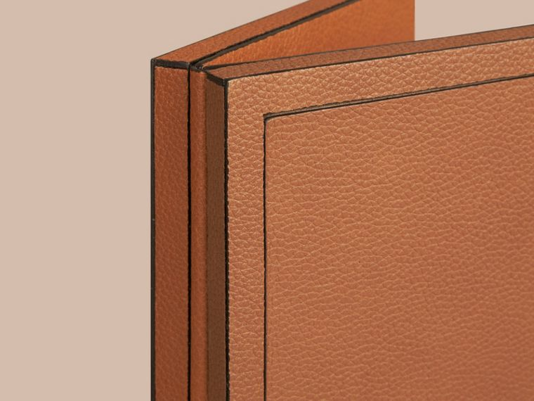 Tan Grainy Leather Double Picture Frame Tan - cell image 1