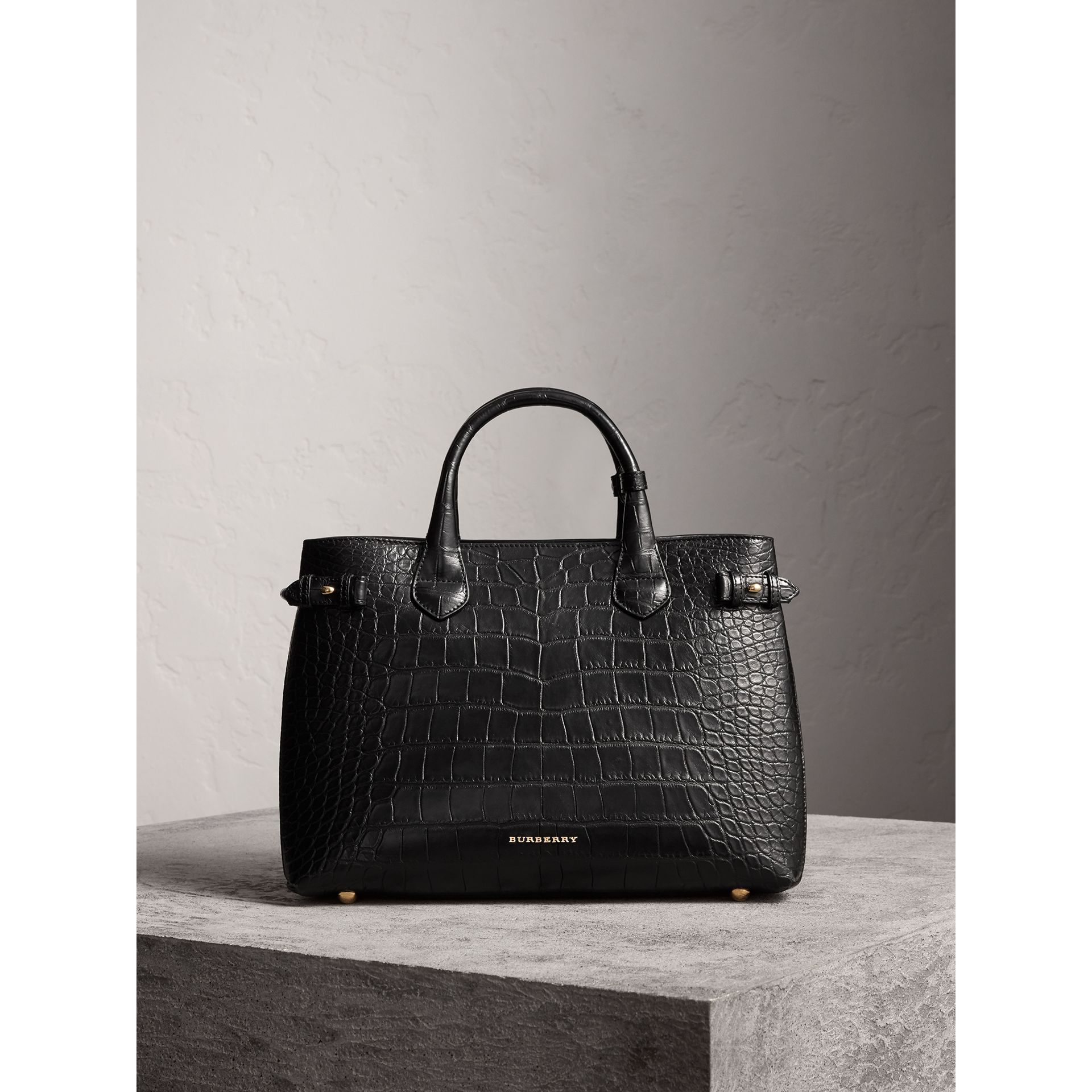 Sac The Banner medium en alligator - Femme | Burberry - photo de la galerie 7