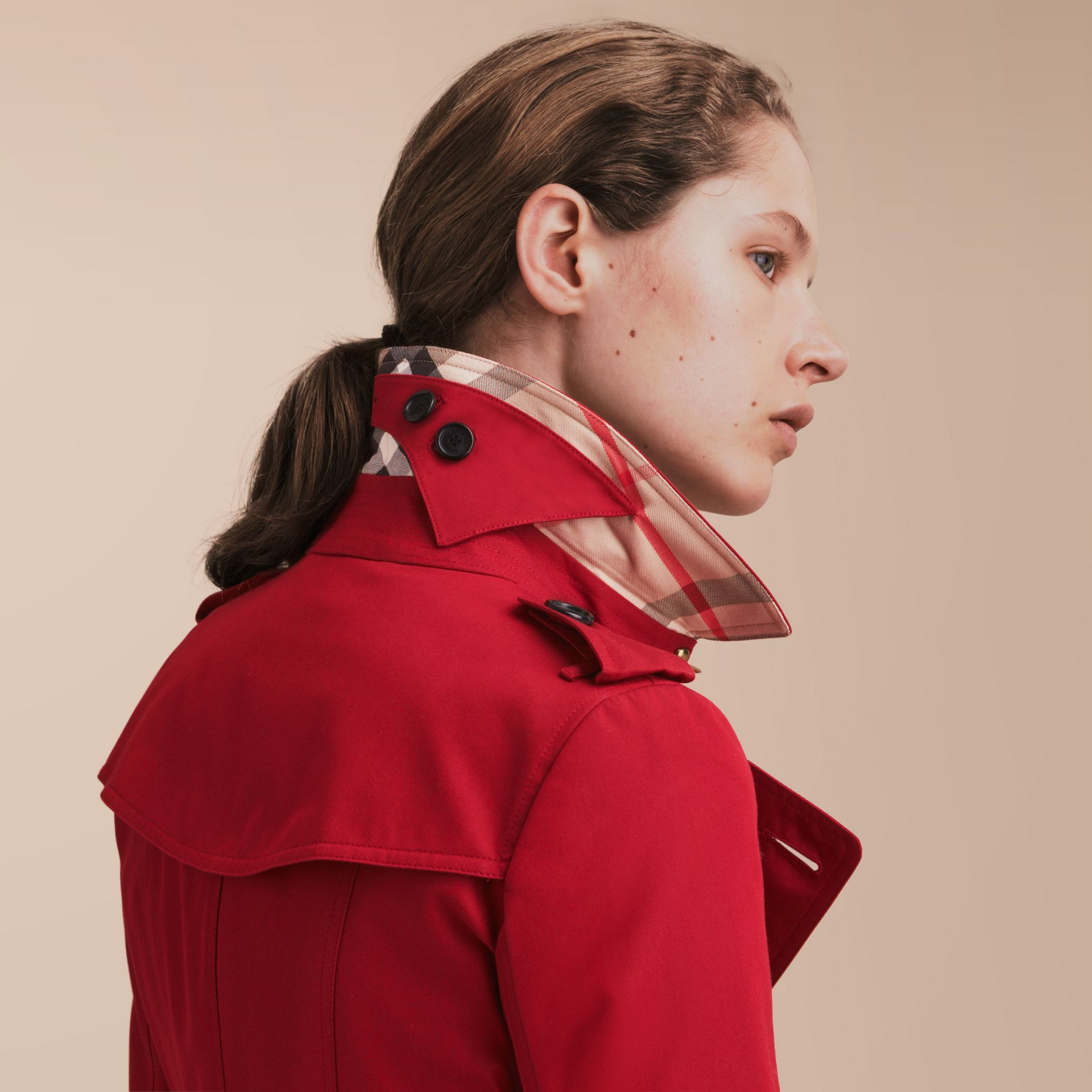 The Chelsea – Extra-long Heritage Trench Coat in Parade Red - gallery image 6