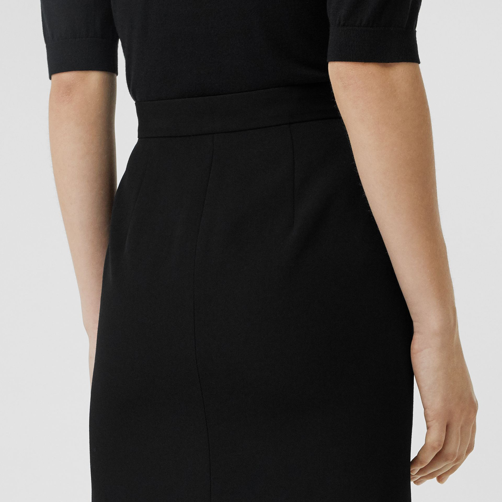 Wool High-waisted Pencil Skirt in Black - Women | Burberry Australia - gallery image 1