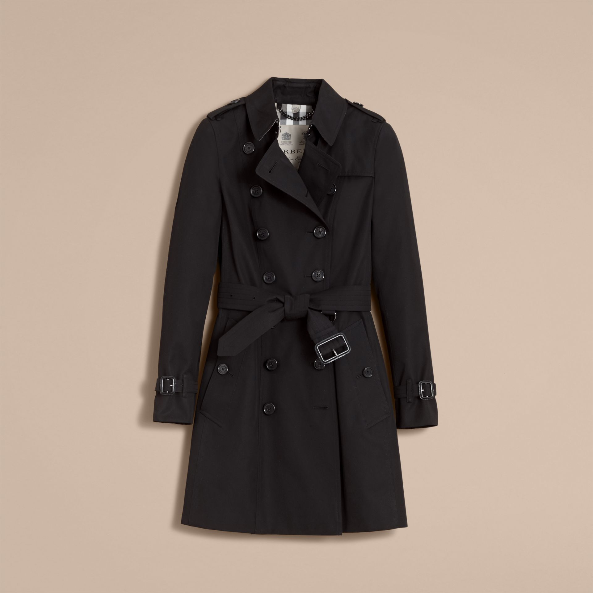 The Chelsea - Trench coat Heritage medio (Nero) - Donna | Burberry - immagine della galleria 4