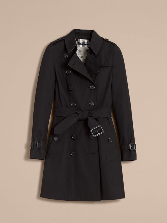 The Chelsea – Mid-length Heritage Trench Coat in Black - Women | Burberry Hong Kong - cell image 3