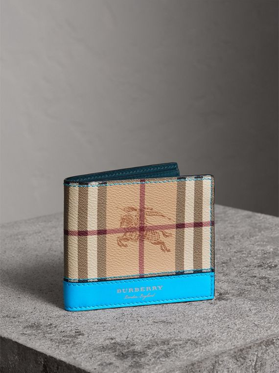 Haymarket Check International Bifold Wallet in Bright Blue
