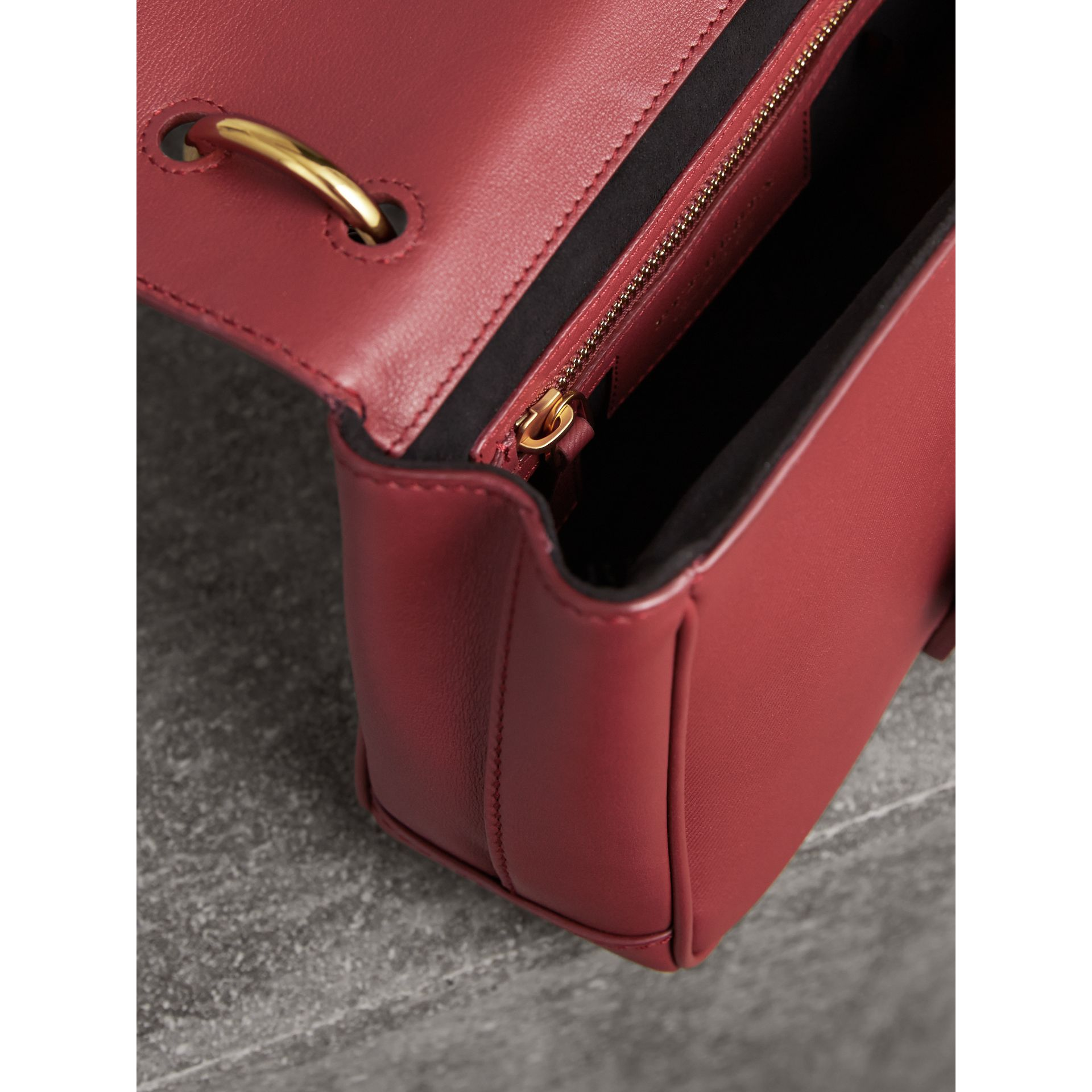 The Small DK88 Top Handle Bag in Antique Red - Women | Burberry - gallery image 5