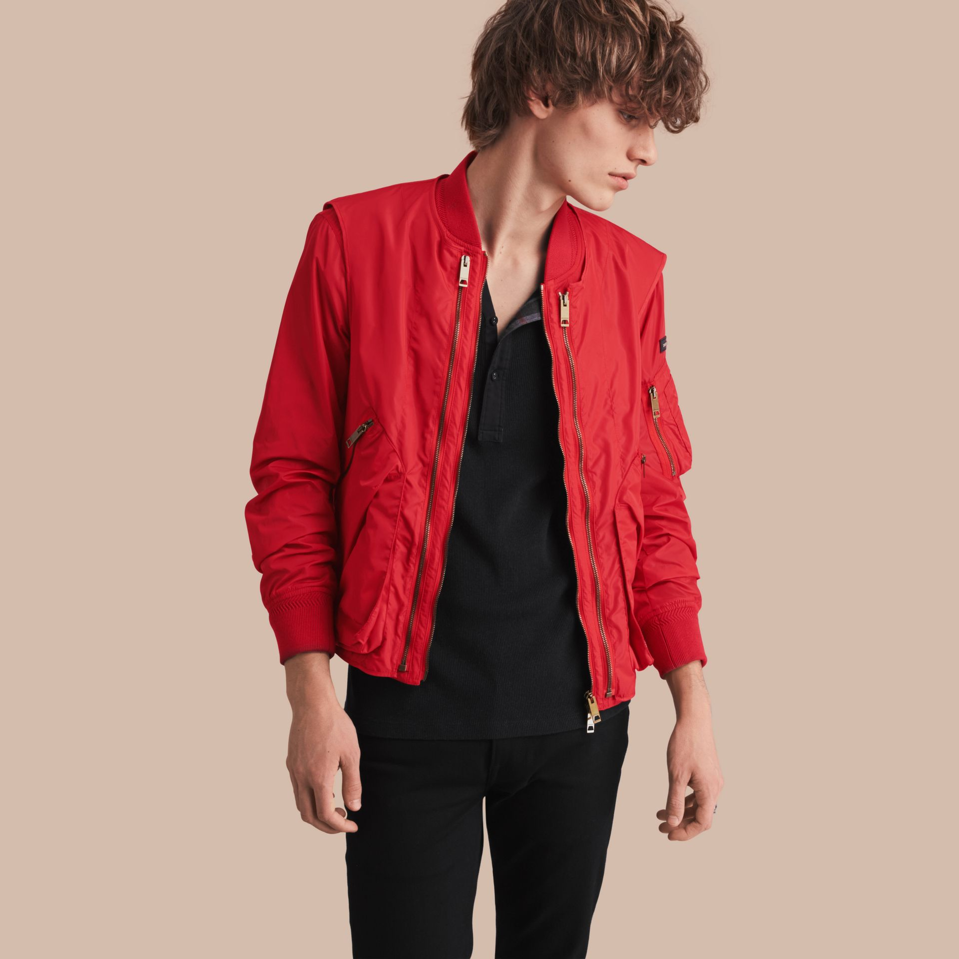 Technical Bomber Jacket with Detachable Gilet - gallery image 1