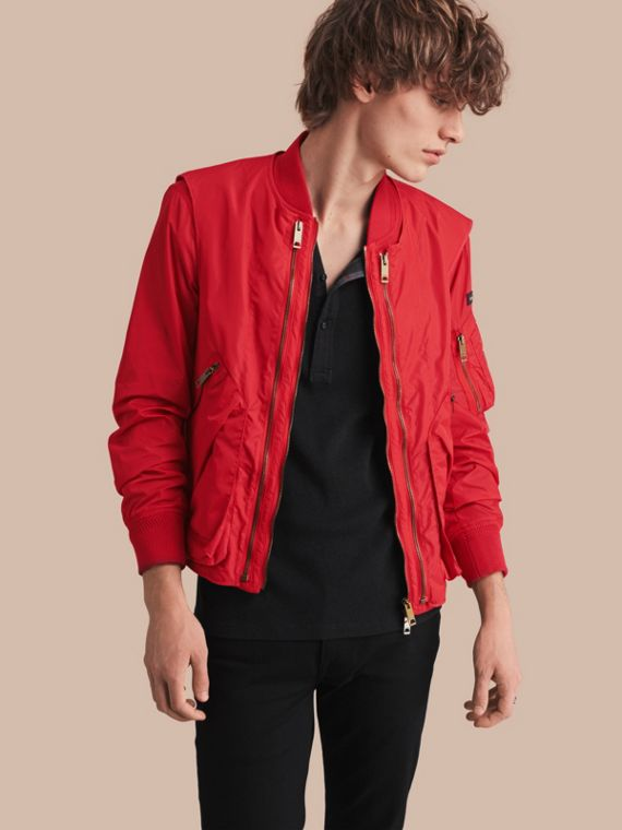 Technical Bomber Jacket with Detachable Gilet