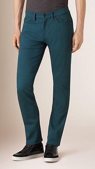 Jean slim stretch en denim japonais