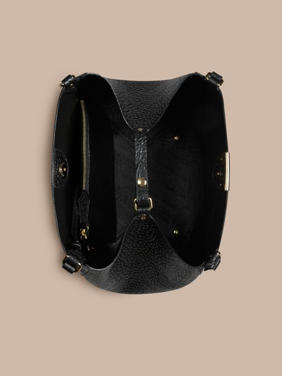 Black The Small Canter in Embossed Check Leather Black - cell image 3