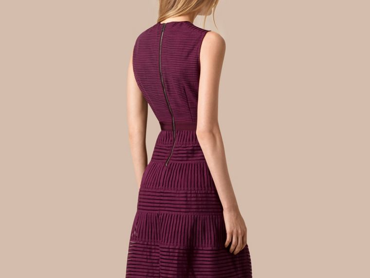 Bright burgundy Panelled Mesh Dress Bright Burgundy - cell image 1