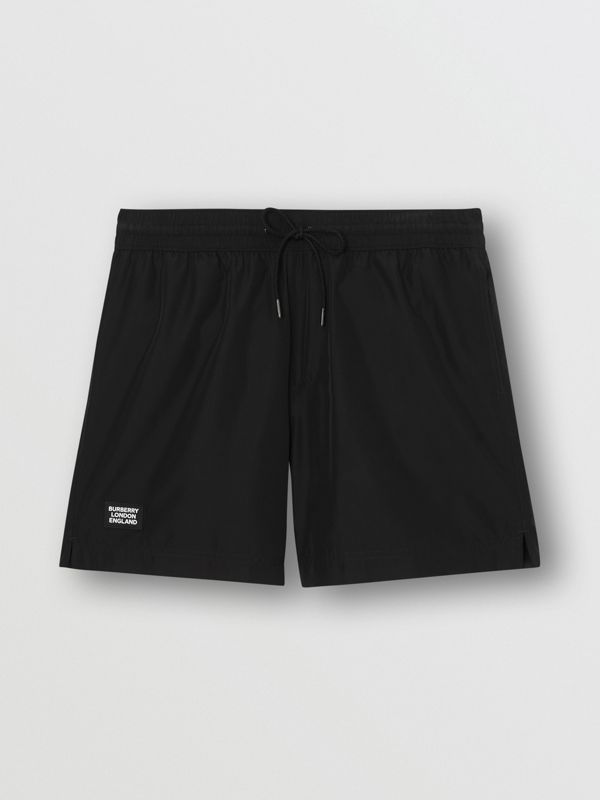 Logo Detail Drawcord Swim Shorts in Black - Men | Burberry - cell image 2