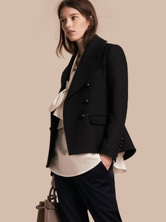 Tailored Wool Blend Jacket