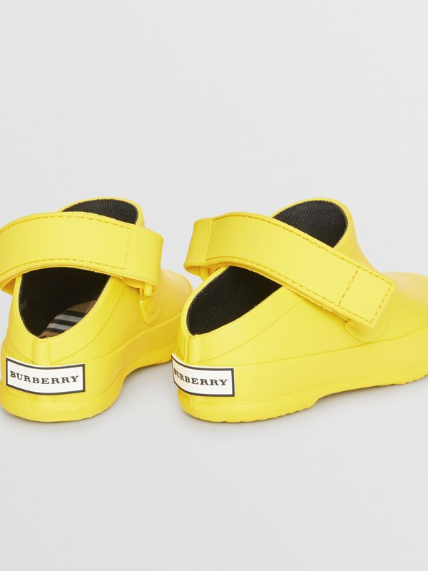 Check Detail Rubber Sandals in Citron - Children | Burberry Canada - cell image 2